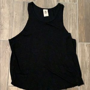 Free People Coziest Black Tank Top Size Small